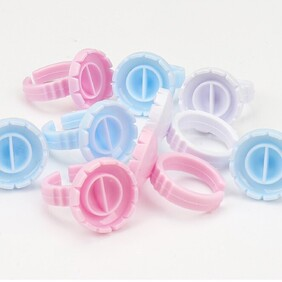 Assorted Colours Round Glue Ring 100 pack