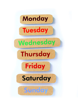 Days of the Week - English Magnetic