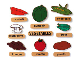 Vegetables with Words - English Magnetics