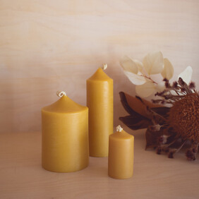 Beeswax Cafe Candles, 3 sizes