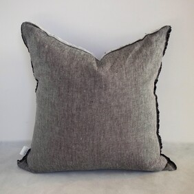 Fringed Linen Cushion Cover