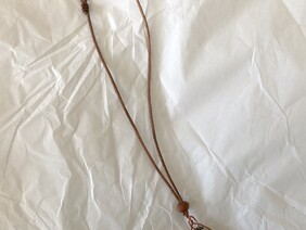 Small copper and glass bead necklace