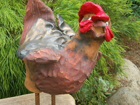 Pottery Rooster
