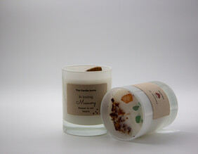 """Classic - """"In Memory"""" Crystal and Botanical Candle"""