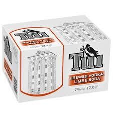 Tui Vodka Lime and Soda 12 Pk  Cans