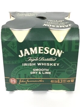 Jameson Lime 4pk Cans