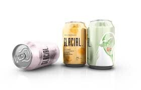 Glacial Hard Seltzer Peach and Passion