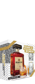 Disaronno Amaretto and Two Tumbler Gift Pack