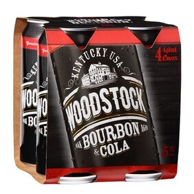 Woodstock 5% 4pk Cans