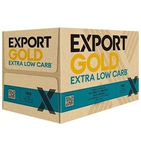 EXPORT GOLD EXTRA LOW CARB LAGER 15PK BOTTLES 330ML