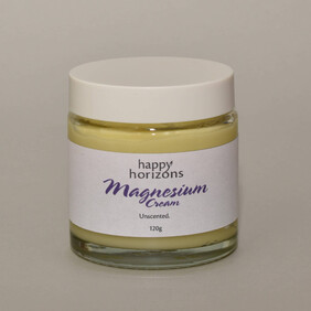 Magnesium Cream (unscented) by Happy Horizons 300g