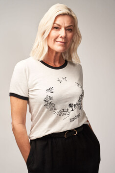 Tilda Tee - with Willow Pattern print