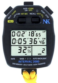 Interval 2000 Split/Rate Watch