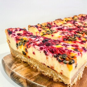 Berry Passionfruit Cheesecake