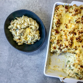 Family Size Macaroni Cheese with Bacon