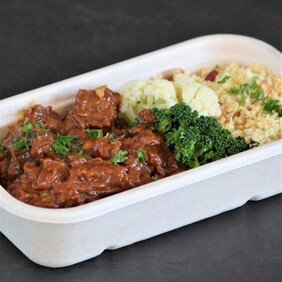 Moroccan Beef with Almond Cous Cous