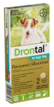 Drontal AllWormer Small Dog 1-10kg Single Tablet