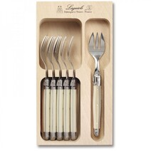 Laguiole by Andre Verdier Cake Forks Set 6 - Ivory