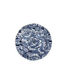 Burleigh Ink Blue Hibiscus Plate - 21.5cm