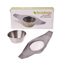 Teaology Stainless Steel Tea Infuser with Drip Tray