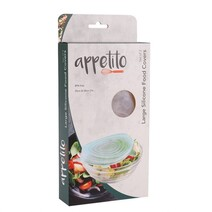 Appetito Reusable Large Silicone Food Covers Set 2