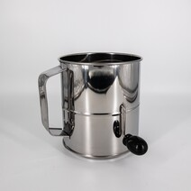 Dissco Stainless Steel 8 Cup Flour Sifter Crank