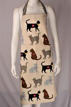 Hot House Love Cats Apron