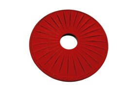 Teaology Cast Iron Trivet - Red/Black Ribbed