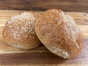 Wholemeal Bun with Sesame Seeds on top