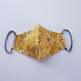 Face Mask // Ditzy Mustard Floral