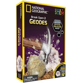 National Geographic Break Open 2 Real Geodes