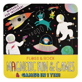 Space 4 in 1 Magnetic Games