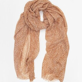 Speckle Print Scarf - Rust