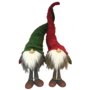 Pair of Standing Red and Green Hat Gonks