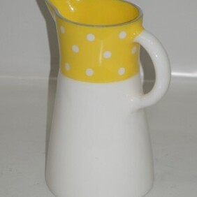 Jug with Yellow and White Spots