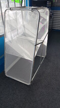 Collapsible A-Frame Aluminium Wide end frame with built-in sight strip