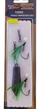Jarvis Walker Flasher Rigs (GREEN/CHARTREUSE) - with Sinker 4/0 hooks