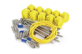 Standard Grip Assembly Kit Yellow - Short Tail Wires (10 pc set)