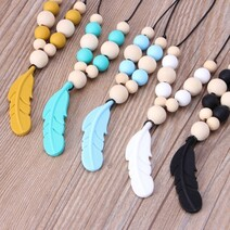 Feather Sensory Chew Necklace