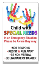 Child with Special Needs Sticker