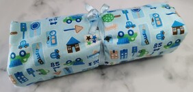 Winter Baby Flannelette Fitted Cot Sheet - Construction Fun