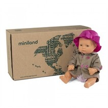 Miniland Doll - Anatomically Correct Baby, Caucasian 32cm & Outfit Boxed