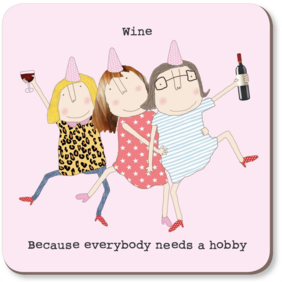 Rosie made a thing| Wine hobby coaster