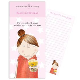 Rosie made a thing| Too Sexy-Magnetic list pad