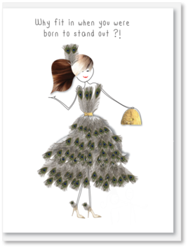 iCandy   Card - Why fit in when you were born to stand out