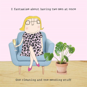 Rosie made a thing fantasy-humour card