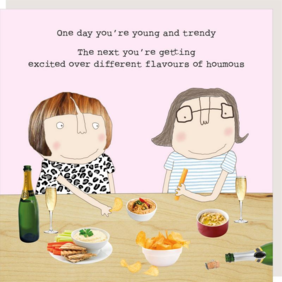 Rosie made a thing Houmous-humour card