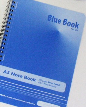 1177 A5 Note Book  - Blue Book Perf 200 page