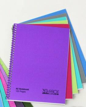 1093 A5 120pg Note Book - Ass Colours