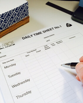 1044 Daily Timesheet Pads No1 50/s